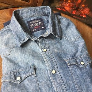 American Eagle Outfitters Denim Shirt